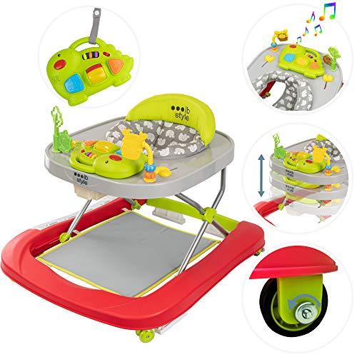 ib style® Little DINO loopstoel|babywalker| loopwagen |licht en geluid|EN 1273:2005 |Colours