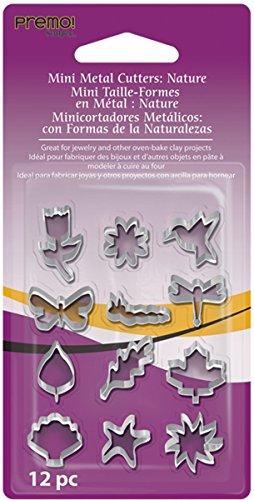 Polyform Premo Mini Metal Cutters, Nature, 12-Pack