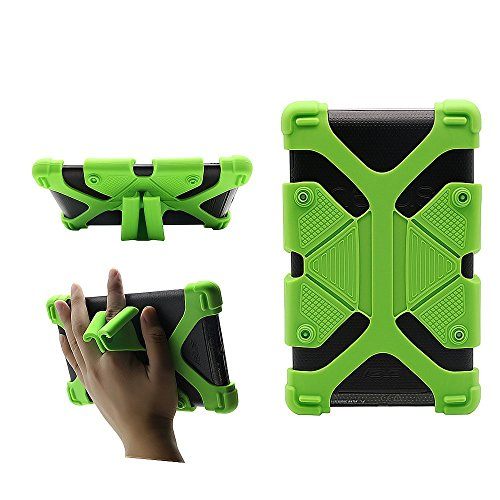 CHINFAI Universal 7 inch Tablet Case Shockproof Silicone Stand Cover for All Versions RCA Voyager 7 (2016, 2017) / Amazon Fire 7 Tablet 7th Generation/Google Nexus 7 2013 FHD 2nd Gen, Green