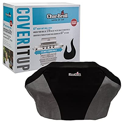 Char-Broil Large Heavy Duty Gas and Charcoal Grill Cover Canvas, 67 Inch by Char Broil