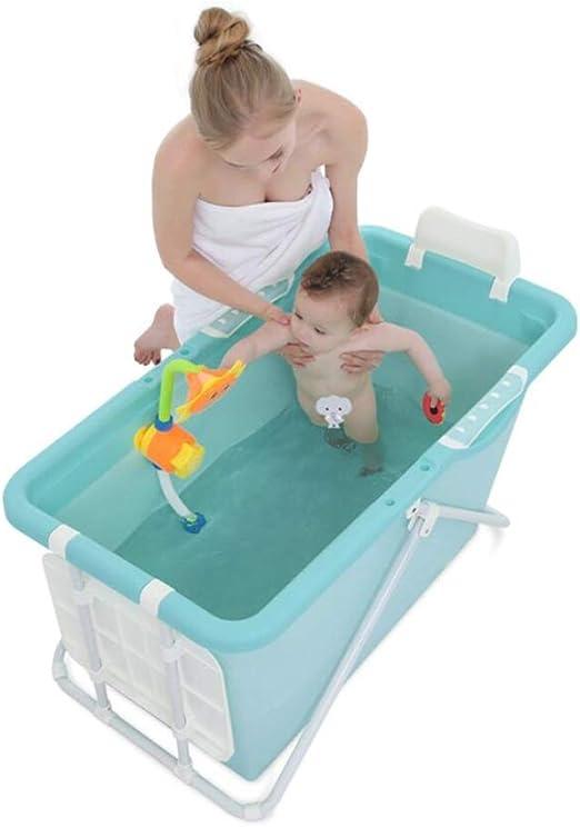 Bañera Plegable, Baño para Adultos Aislamiento Antideslizante ...
