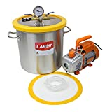 5 Gallon Vacuum Degassing Chamber Kit with 3.6 CFM Pump - Not for Wood Stabilizing