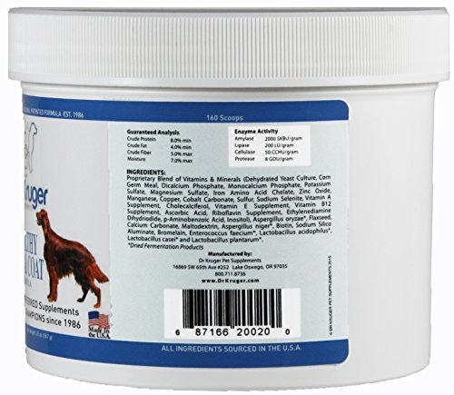 Dr Kruger Pet Supplements Healthy Skin & Coat Formula - 20 Ounces