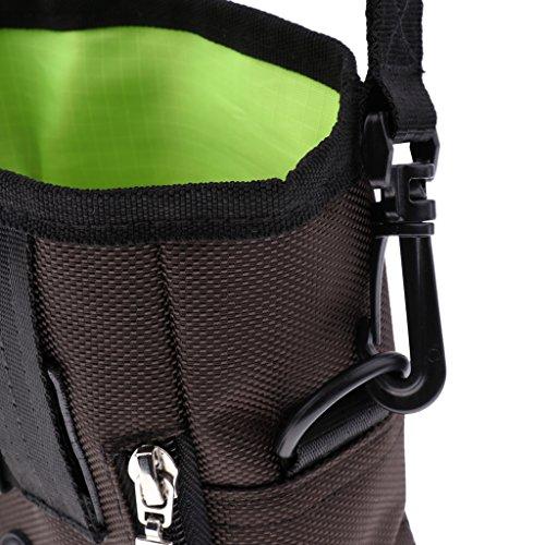 B Blesiya Dog Treat Training Pouch Hands Free Training Waist Bag Carries Toys Food Balls Keys Training Accessories - Brown by B Blesiya (Image #6)