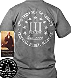 Sons Of Liberty Sons of Libery Three Percent. True Born Gray/2XL T-Shirt. Ma.