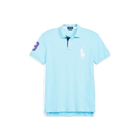 dc6d85435343 Ralph Lauren Polo Big Pony - Custom Fit - Hammond Blue (S)  Amazon.co.uk   Clothing