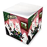 Home of American Eskimos 4 Dogs Playing Poker Note Cube