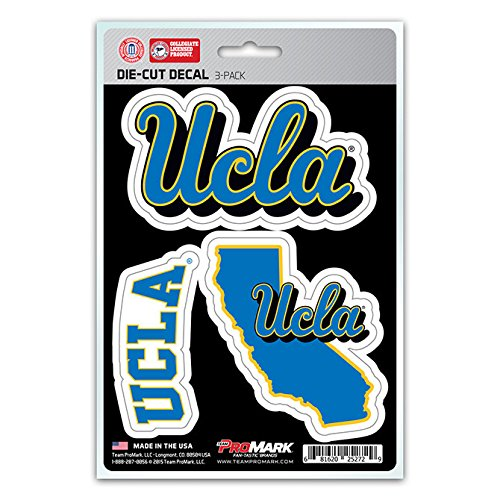 NCAA UCLA Bruins Team Decal, 3-Pack