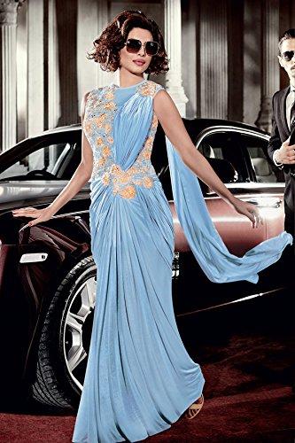 Pronto Ethnic Saree Indossare Sposa Da Per Personalizzata Party In Vestito Camicia Dress Jn Lycra Emporium Abito Etnico Indiano Bollywood 2735 Gonna Di rFpPr0