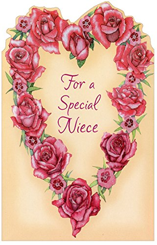 Amazon heart of roses niece freedom greetings valentines heart of roses niece freedom greetings valentines day card m4hsunfo