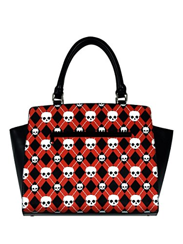 Pattern à rouge noir main Sac Banned Skull aTFIqgxf