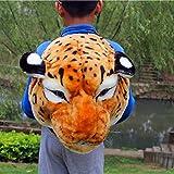 Funny Backpack,Stuffed Animal Head 3D Simulation Personalised Shoulder Bag Zipper (Multicolor, E)