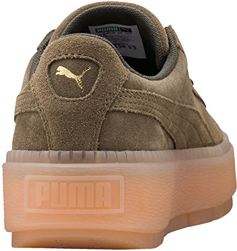 Puma Damen Sneakers Suede Platform Trace Traccia Wiv Oliv