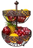 RosyLine 2-Tier Fruit Basket home Fruit Basket Decorative Display Stand, Multi purpose bowl, Home accent furnishings