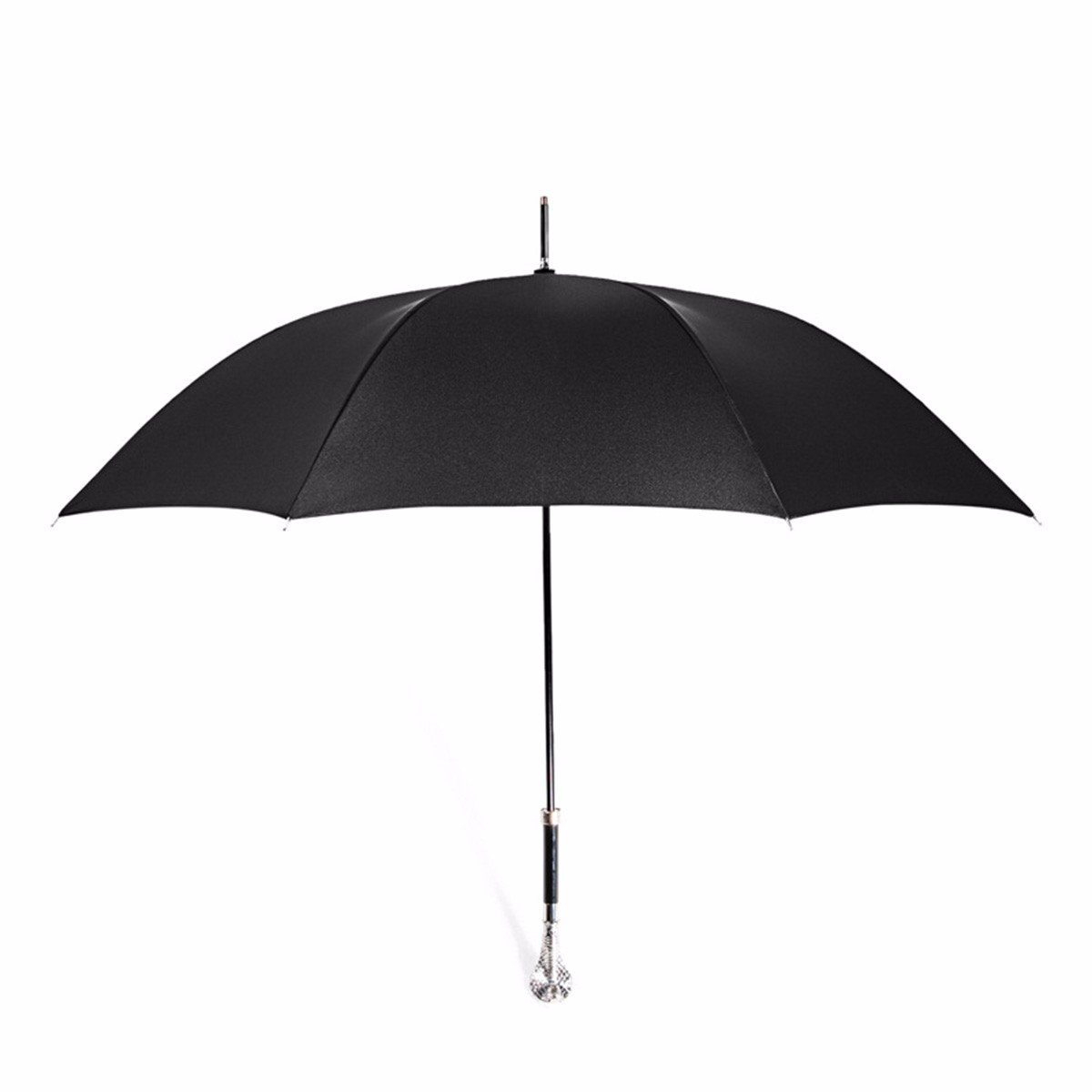 SSBY Straight Handle Golf Umbrella Long Handled High-Grade Business Umbrella 55Cmsilvery