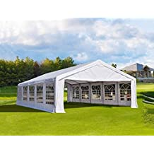Quictent 32'x16' Heavy Duty Party Wedding Tent Carport Canopy White w/ Side Walls