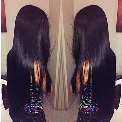 "Jaycee Hair Brazilian 3 Bundles Virgin Hair Silky Straight Hair Grade 8A 100% Unprocessed Virgin Human Hair Extensions Natural Black (100+/-5g)/pc( 8"" 10"" 12"")"