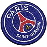 TIFR009T Paris Saint Germain PSG Shield Football Soccer Embroidered Patch Iron or Sew Size 2.75 × 2.75 in