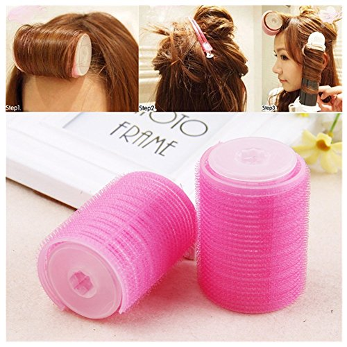 Salon Rollers (Lovef Women Bangs Hair Styling Tools Salon Curlers Hot Cling Rollers Curlers Hair Rollers Double 2Pcs)