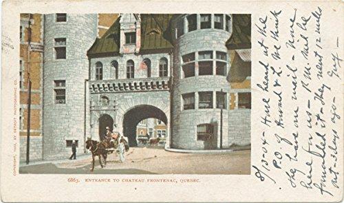 Historic Pictoric Postcard Print | Entrance to Chateau Frontenac, Quebec, Que, 1902 | Vintage Fine Art ()