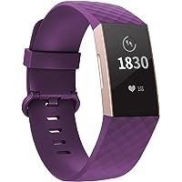 Adepoy voor Fitbit Charge 3 Bandje/Fitbit Charge 4 Bandje, verstelbare klassieke sportvervangende armband Compatibel met…