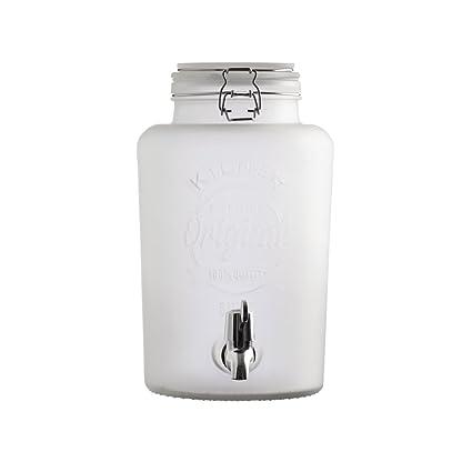 """Dispensador de bebidas """"Original Frosted Blanco Cristal de 5 l, leche Cristal"""