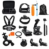 Toughsty Common Outdoor Sports Essentials Kit for All GoPro Hero 5 4 3 2 1 Parachuting Diving Surfing Rowing Running Cycling Camping