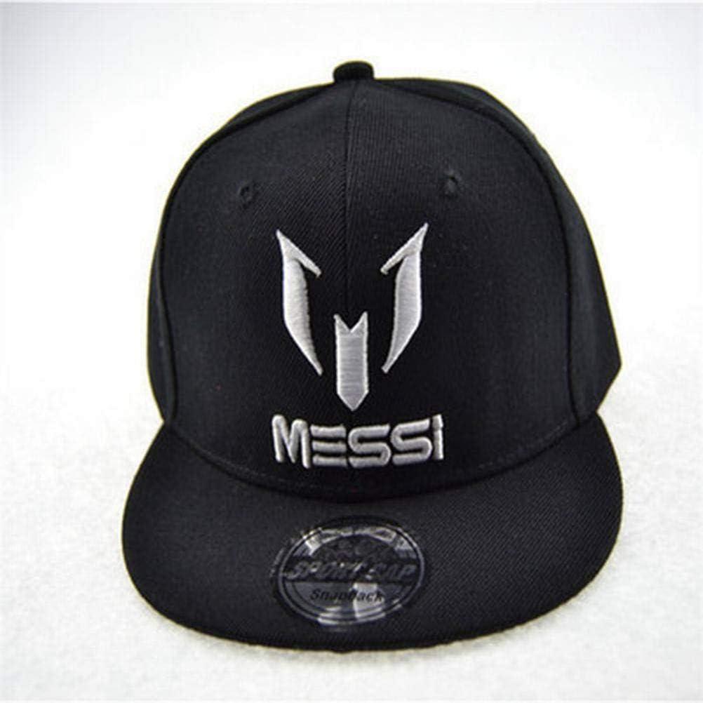 CWH-hat Messi Kinder Hut Bestickt Flache Baseballm/ütze M/änner und Frauen Baby Hip Hop Hut Brief Kappe