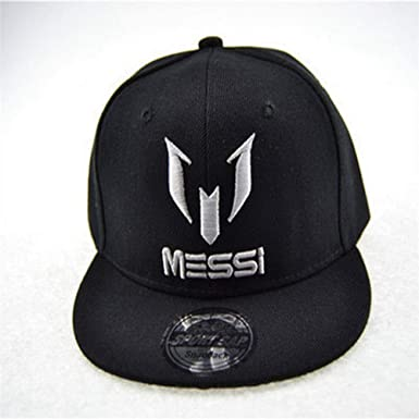 CWH-hat Messi Childrens Hat Embroidered Flat Baseball Hat Men and Women Baby Hip Hop Hat Letter Cap
