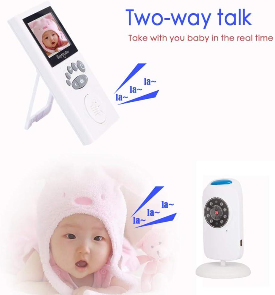OWSOO Moniteur B/éb/é,Babyphone Vid/éo Cam/éra avec 2.4 Pouce TFT LCD Cam/éra de s/écurit/é avec Infrarouge Vision Nocturne en Temps r/éel temp/érature Audio berceuses berceuses b/éb/é Nann