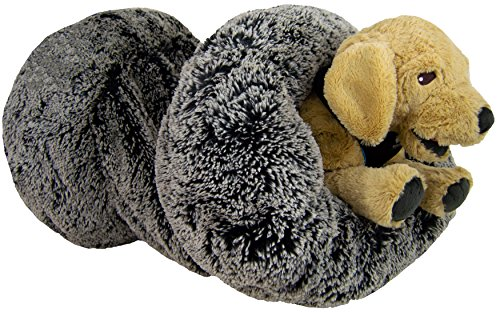 BESSIE AND BARNIE Midnight Frost Luxury Shag Deluxe Extra Plush Faux Fur Burrow Pet/Dog Bed