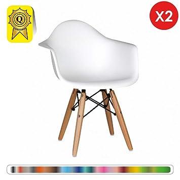 Decopresto Venta 2 x sillón Kid escandinavo Piernas: Madera ...