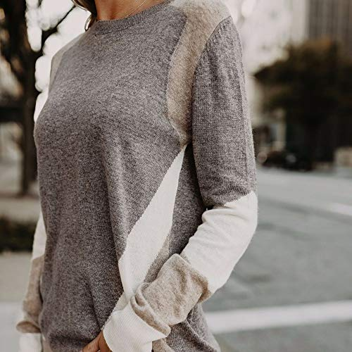Caf Shirt Top Shirt NINGSANJIN Longues Rond Manches Coton Slim Couture Femmes t Chemise Pull Sweatshirt col Chic SnxaFRq