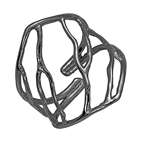 Intricate Branches Ring (Adjustable Size, Gunmetal Black) by Mercedes Shaffer