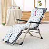 Der and Winter Recliner Cushion,Rocking Chair,Folding Recliner Cushion,Thick Cushion Cushion Outdoor Cushion for Garden Office (Color : C, Size : 53x130x10cm(21x51x4inch))