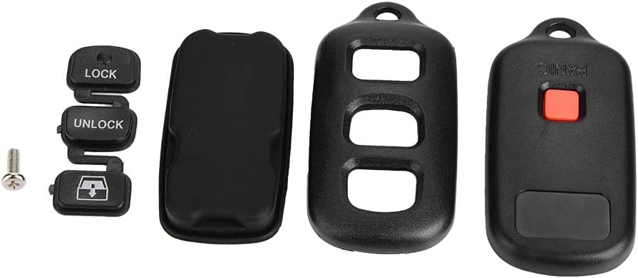 Remote car Key Shell fob Cover housing 3 Button Panic for Toyota Sequoia 4-Runner 4Runner 2003-2008 Keyless Case Replacement