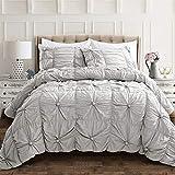 Lush Decor Light Gray Bella Comforter Set Shabby