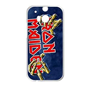 HTC One M8 Cell Phone Case Covers White Iron Maiden EWI