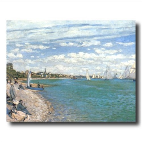 Claude Monet Tropical Beach Sailboat Landscape Wall Picture