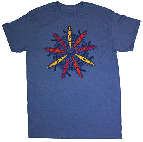 Liberty Graphics Sea Kayaks Adult T-shirt Medium Indigo