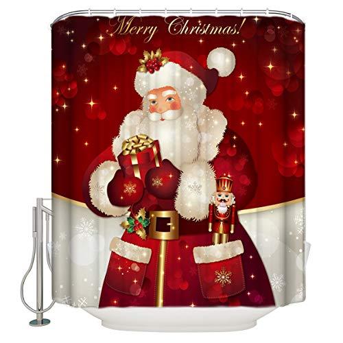 Christmas Merry Fabric (Unique Custom Merry Christmas Dreamlike The Santa Claus Waterproof Fabric Polyester Shower Curtain Bathroom Decor 70