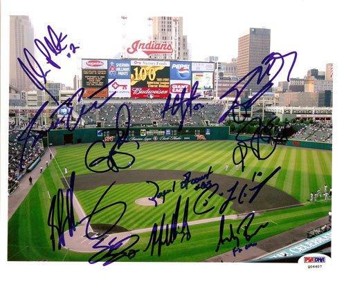 2005 Cleveland Indians Signed 8x10 Photograph C.C. Sabath...