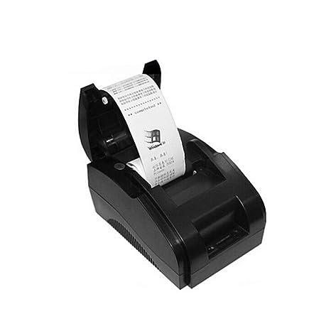 Impresora térmica inalámbrica, Bluetooth 58mm portátil USB Receipt ...