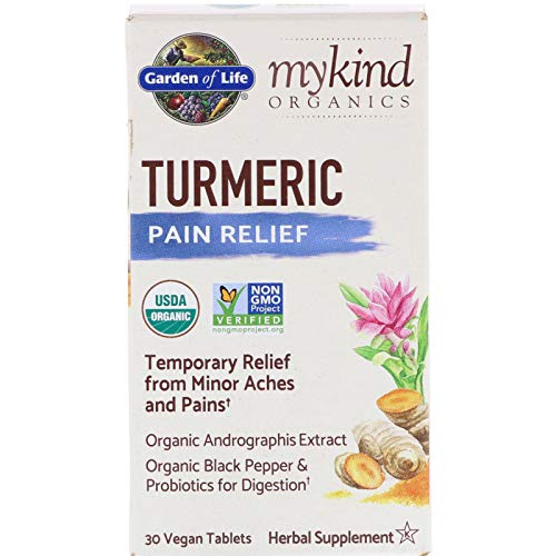 Garden of Life, MyKind Organics, Turmeric, Pain Relief, 30 Vegan Tablets ()