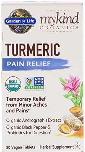 Garden of Life, MyKind Organics, Turmeric, Pain Relief, 30 Vegan Tablets