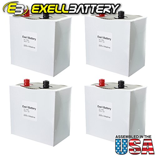 4pc Exell 489A Alkaline 225V Battery NEDA 728 Non Rechargeable by Exell Battery