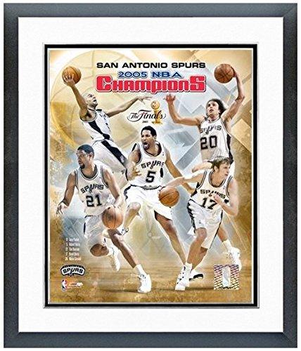 "San Antonio Spurs 2005 NBA Championship Team Photo (Size: 12.5"" x 15.5"") Framed"