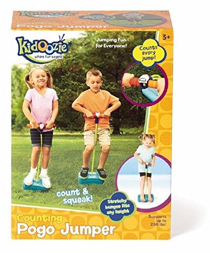 [해외]Pogo 점퍼를 세는 Kidoozie - 즐겁고 안전한 놀이 - 활동적인 생활 양식 장려 - 삐걱 거리는 소리 만들기 - 모든 크기, 250 파운드 용량/Kidoozie Counting Pogo Jumper - Fun and Safe Play - Encourages an Active Lifestyle - Makes Squeaky Soun...