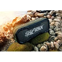 Sharkk Commando + 20W Bluetooth Speaker IP65 Rugged Waterproof Wireless Speaker with 6600mAh Power Bank and 2 EQ Sound Settings Portable Outdoor and Shower Speaker with 16+ Hours Playtime