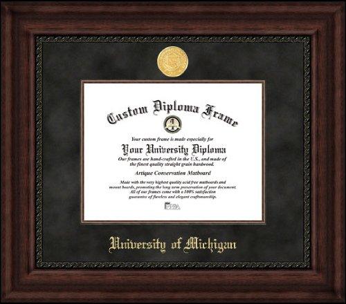 8.5 x 11 Campus Images MI982EXM University of Michigan Executive Diploma Frame